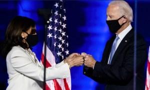 Biden Harris Fist Bump Masks