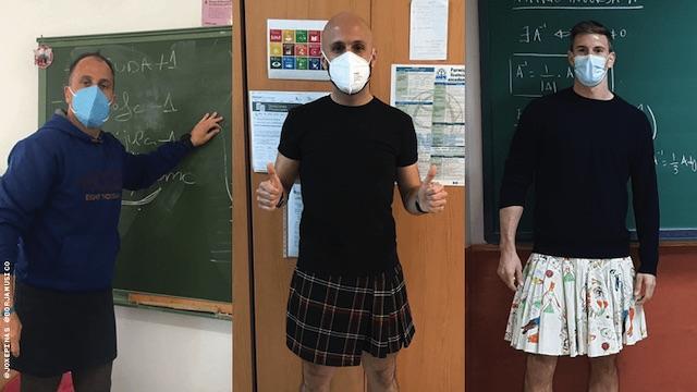 Male Teachers Skirts