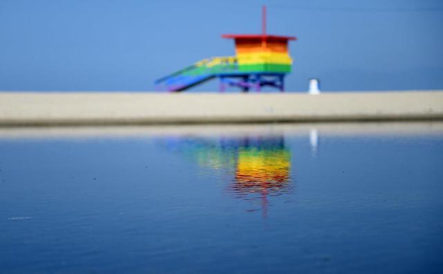 Venice Beach Rainbow Lifeguard Tower