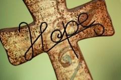 Hope on cross
