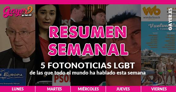 Repasa las fotonoticias más importante para el colectivo LGBT de la semana (16-22 mayo)