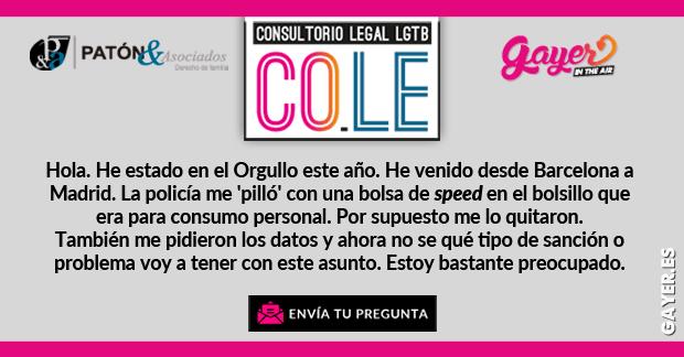 CONSULTORIO LEGAL LGTB CONSUMO DE DROGAS