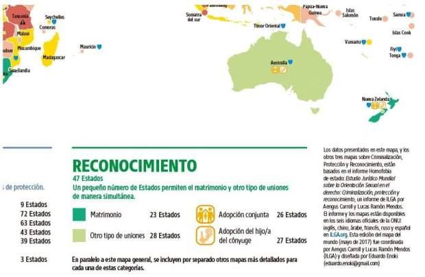4 - Leyes sobre orientación sexual en el mundo - Mapa general | Fuente Img. ilga
