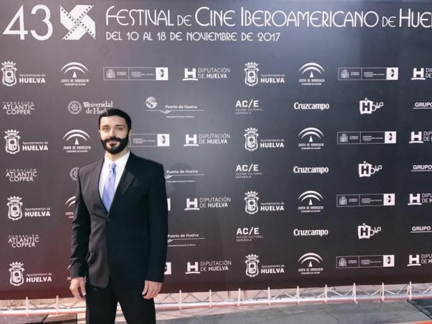 Frank romero participaba activamente en el Festivald e Cine Iberoamericano de Huelva