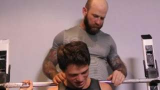 FamilyDick – Older tattooed muscle daddy coaches virgin step son on thick c