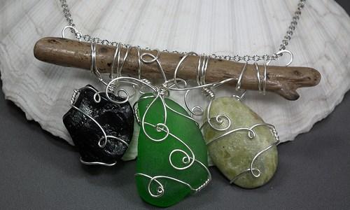 Cape Breton Beachcombed Necklaces