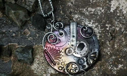 Steampunk Clay Pendants