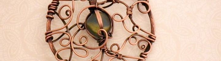 Copper & Beach Glass