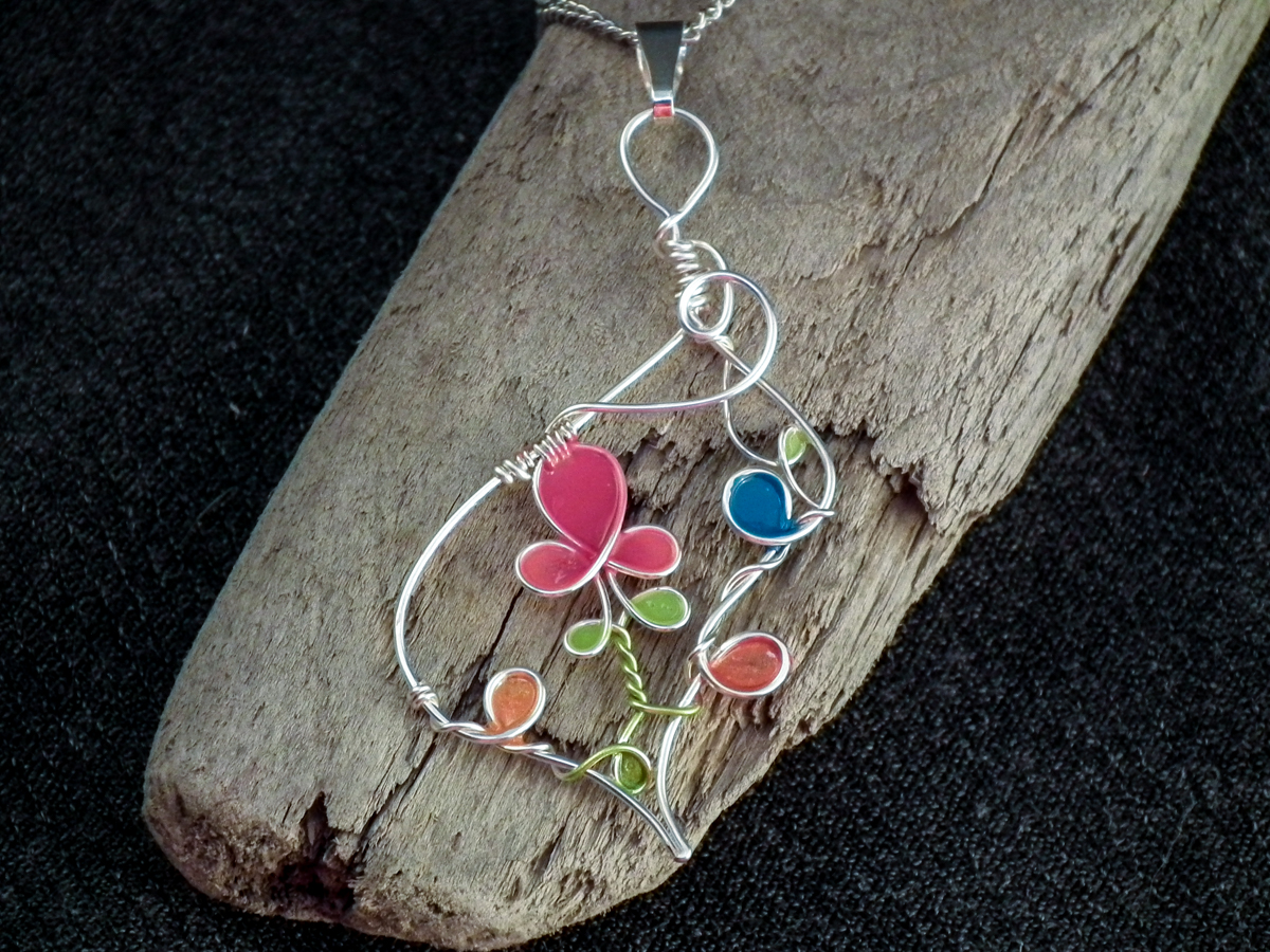 Wire Nail Polish Flowers & Pendants