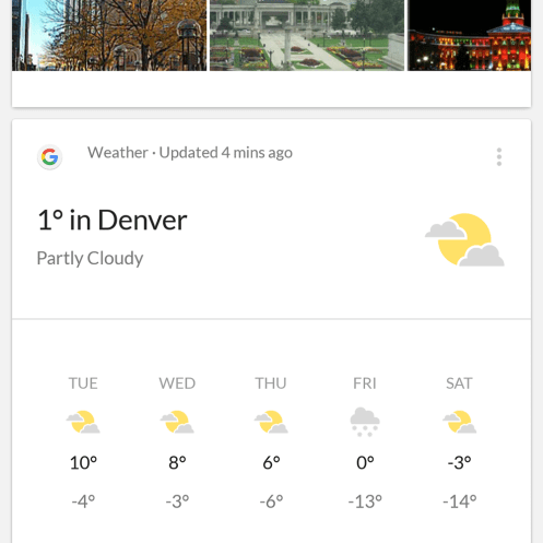 The weather for my free day was amazing.