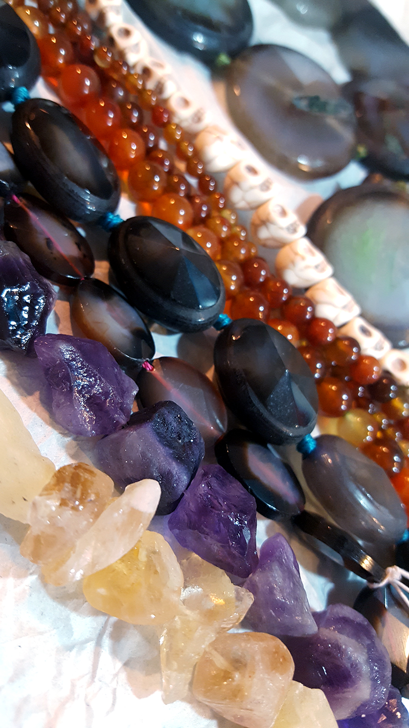 Gemstone beads. Rough nuggets - my fave!