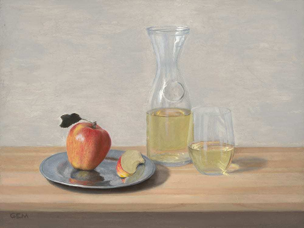 """""""Sweet Snack"""" Oil on linen panel, 9""""x12"""", painted in 2018 - AVAILABLE"""