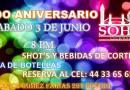 3er Aniversario SoHo Club / Bar | Morelia