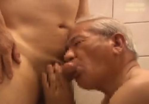 白髪爺のホモセックス動画