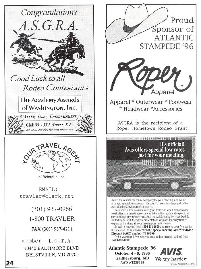 1996 Atlantic Stampede, Washington DC program