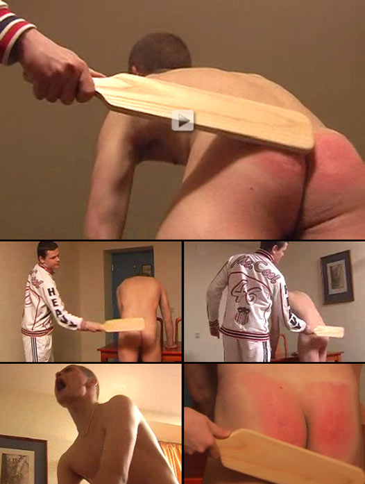 Balkan stud gets his sculpted ass paddled hard