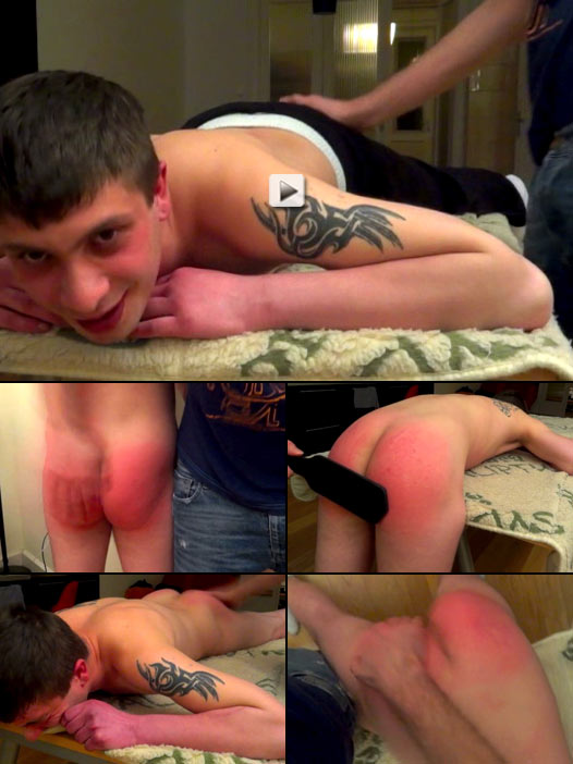 Tattooed rentboy gets a hot spanking
