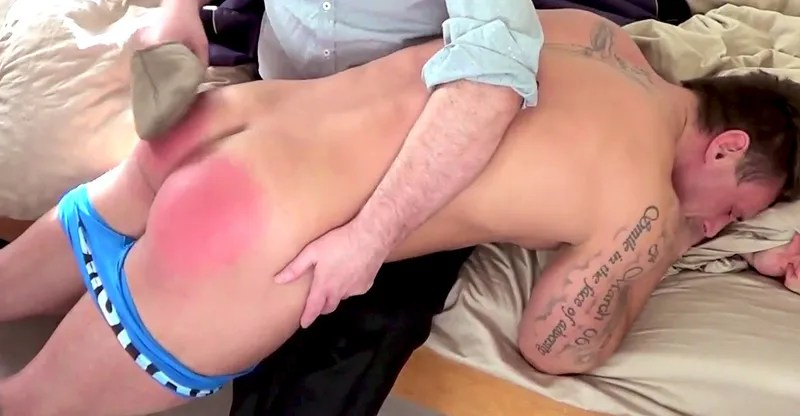 gay father son spanking
