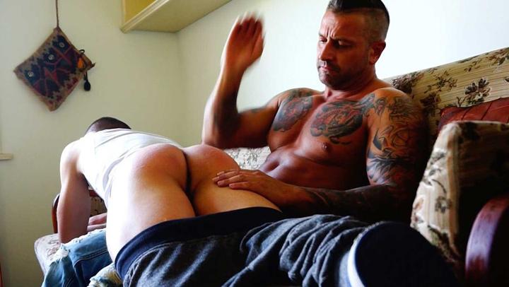 spank Step dad