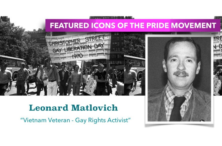 PRIDE ICON SPOTLIGHT – LEONARD MATLOVICH