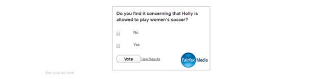 The poll was removed from the online article Friday morning.