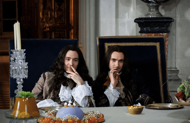 Philippe I and Louis XIV in the TV series Versailles.