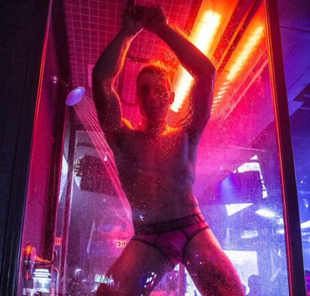 Odyssey is know for its Shower Power booths were go-go dancers go wet