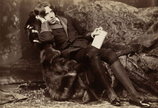 Oscar Wilde, aged approximately 28, photographer in New York City in 1882