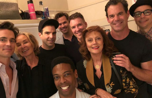 Boys in the Band cast with Susan Sarandon and Jessica Lange