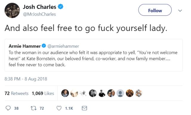 Josh Charles' tweet