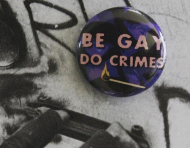 A Be Gay, Do Crimes pin