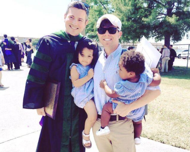 Graduation Day for husband Douglas - alongside Erik and their kids