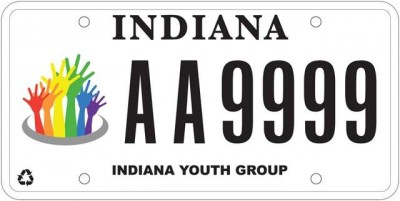 Indiana license plate for LGBT equality