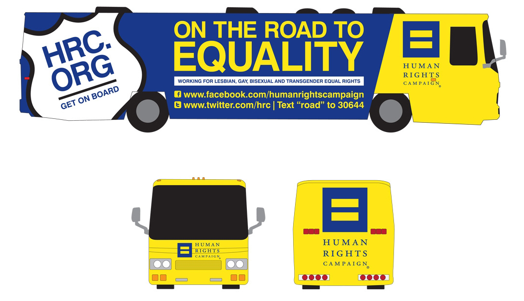 HRC 'On the Road to Equality' bus
