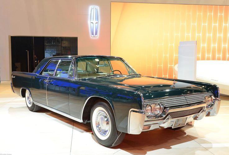 1961 Lincoln Continental Sedan at Lincoln's Heritage on Display at 2012 Los Angeles Auto Show