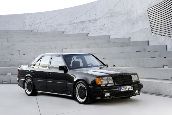 "1980-era Mercedes-Benz modified E-Class ""hammer"""
