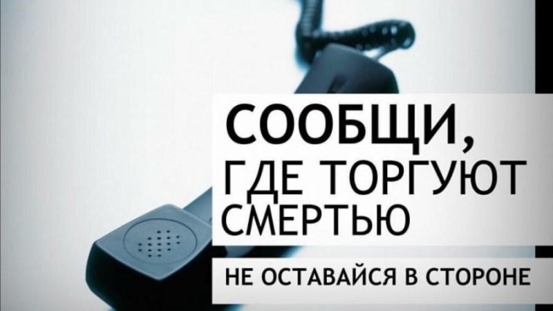 В Алтайском крае стартовала акция «Сообщи, где торгуют смертью!»