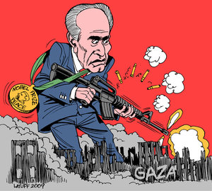 Image result for caricature Shimon Peres