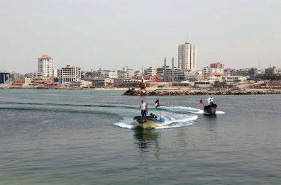On a clear day in Gaza seaport