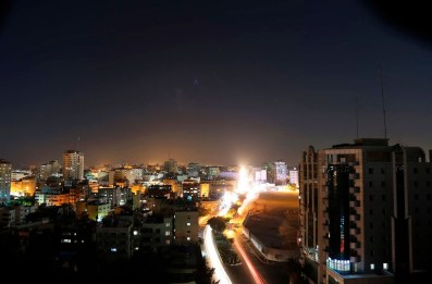 Gaza City by night