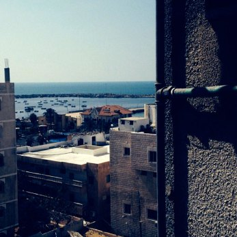 Gaza seaport, view from a window