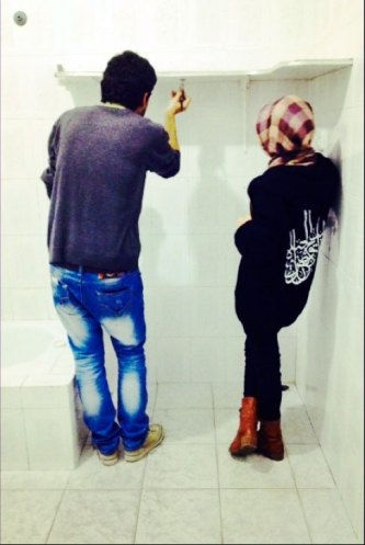 Jehad and Lara fixing their house