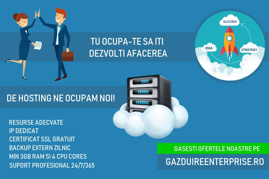 Gazduire web profesionala - Cover