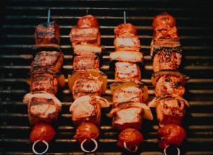 Gazebo Room Restaurant Lamb Kabobs