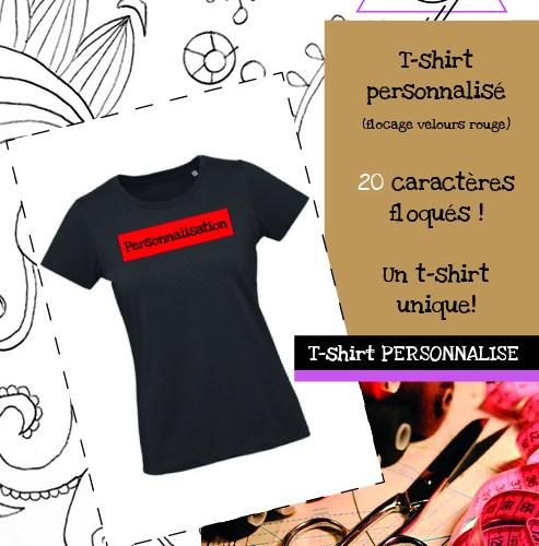 T-shirt Personnalisé (flocage velours rouge)