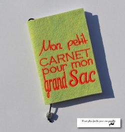 Mon petit carnet pour mon grand sac-rouge