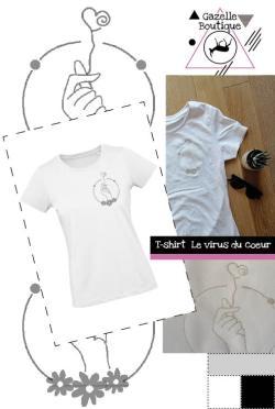 T-shirt Le virus du coeur