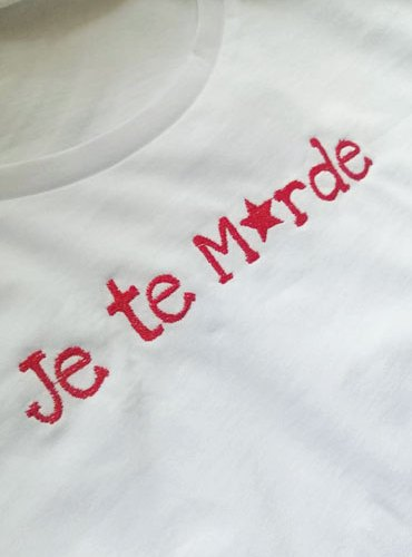 T-shirt «Je te m*rde»