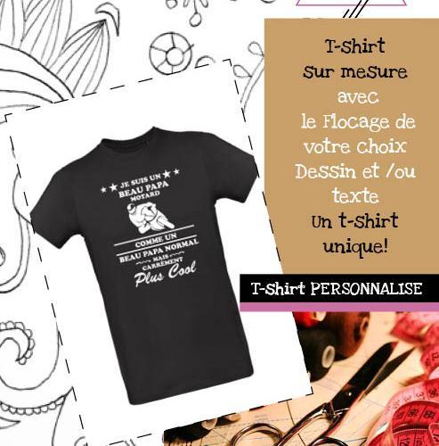 T-shirt Personnalisé avec flocage