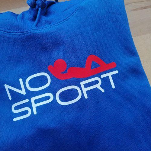 Sweat A capuche «NO SPORT»